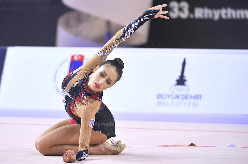 September 24, 2014 - Izmir, Turkey - BECCA SEREDA of USA performs at 2014 World Championships.