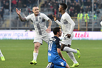 Keita Balde of Internazionale celebrates with Radja Nainggolan after scoring his side first goal during the Serie A 2018/2019 football match between Empoli and Internazionale at stadio Castellani, Empoli, December, 29, 2018 <br /> Foto Andrea Staccioli / Insidefoto