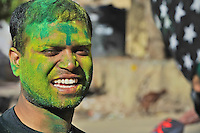 The festival celebrated all over India the Holi Festival Jaipur India