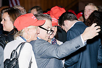 Actor and prominent Trump supporter Stephen Baldwin takes a selfie with people in the ballroom in the Midtown Hilton at the election night victory rally for Republican presidential nominee Donald Trump, on Tues., Nov. 8, 2016. Trump was named president-elect in the early hours of Nov. 9, 2016.
