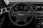 Car pictures of steering wheel view of a 2019 Genesis G80 RWD 4 Door Sedan