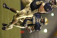 3 September 2005:  LaRod Stephens-Howling (34) follows Mike McGynn for a 15 yard gain.  Notre Dame defeated Pittsburgh 42-21 September 3, 2005 at Heinz Field in Pittsburgh, PA..