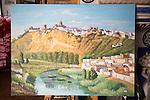 Painting of village of Arcos de la Frontera, Spain