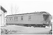 Side view of galley end of RGS business car #B-20 &quot;Edna.&quot;<br /> RGS  Ridgway, CO
