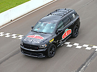 May 20, 2017; Topeka, KS, USA; Tow vehicle for NHRA top fuel driver Leah Pritchett during qualifying for the Heartland Nationals at Heartland Park Topeka. Mandatory Credit: Mark J. Rebilas-USA TODAY Sports