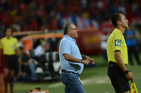 MEDELLIN-COLOMBIA- 30-07-2017. Nestor Otero drector técnico del Cortuluá.Acción de juego entre el Independiente Medellín y  Cortuluá  durante encuentro  por la fecha 5 de la Liga Aguila II 2017 disputado en el estadio Atanasio Girardot./ Nestor Otero coach of Cortluá. Action game between   Independiente Medellin  and Cortulua during match for the date 5 of the Aguila League II 2017 played at Atanasio Girardot stadium . Photo:VizzorImage / León Monsalve / Contribuidor