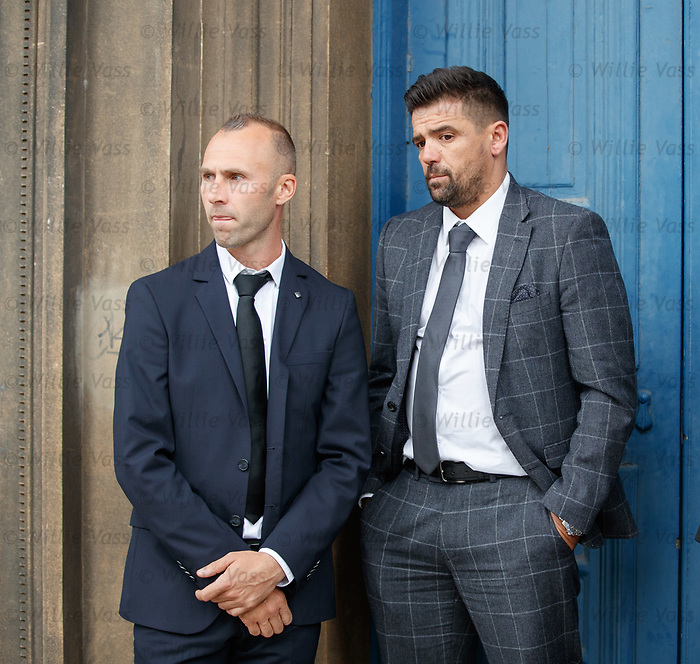 25.09.2018 Funeral service for Fernando Ricksen: Thomas Buffel and Nacho Novo