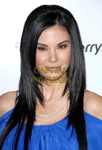 JAYDE NICOLE .at The First Annual Data Awards held at The Hollywood Palladium in Hollywood, California, USA, January 29th 2010.                                                                   .arrivals portrait headshot pearl necklace pearls blue  cut out off the shoulders cobalt .CAP/RKE/DVS.©DVS/RockinExposures/Capital Pictures.