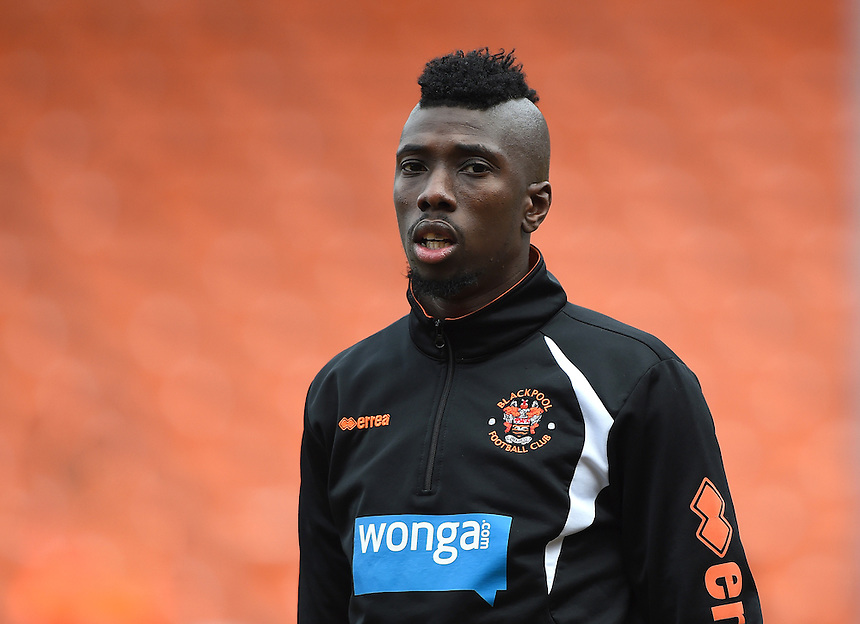 Blackpool's Saer Sene<br /> <br /> Photographer Dave Howarth/CameraSport<br /> <br /> Football - The Football League Sky Bet Championship - Blackpool v Sheffield Wednesday - Saturday 7th March 2015 - Bloomfield Road - Blackpool<br /> <br /> &copy; CameraSport - 43 Linden Ave. Countesthorpe. Leicester. England. LE8 5PG - Tel: +44 (0) 116 277 4147 - admin@camerasport.com - www.camerasport.com