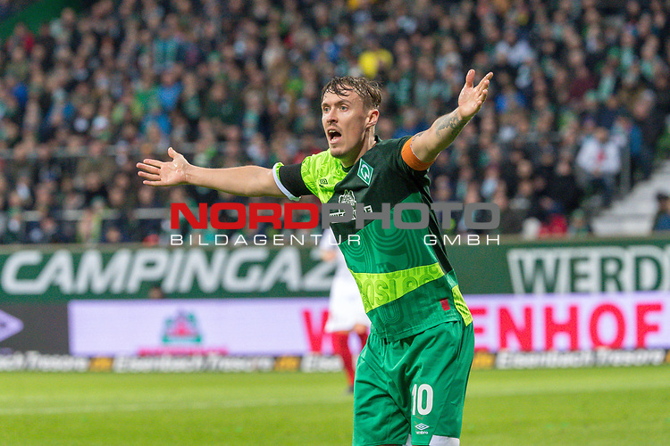 10.02.2019, Weser Stadion, Bremen, GER, 1.FBL, Werder Bremen vs FC Augsburg, <br /> <br /> DFL REGULATIONS PROHIBIT ANY USE OF PHOTOGRAPHS AS IMAGE SEQUENCES AND/OR QUASI-VIDEO.<br /> <br />  im Bild<br /> Max Kruse (Werder Bremen #10)<br /> sauer <br /> <br /> <br /> Foto © nordphoto / Kokenge
