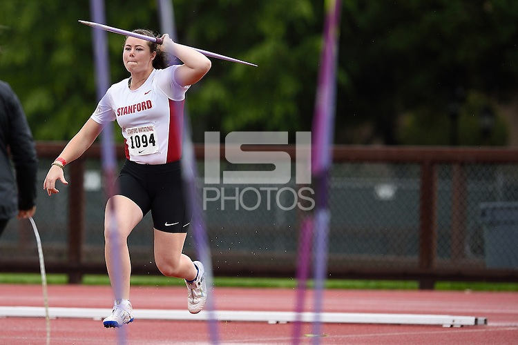 STANFORD, CA - April 4, 2014.  Stanford University Track & Field competes at the 2014 Stanford Invitational at Cobb Track and Angell Field on the campus of Stanford University in Stanford, California.