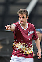 Gary Poulton (The Apprentice 2015) during the SOCCER SIX Celebrity Football Event at the Queen Elizabeth Olympic Park, London, England on 26 March 2016. Photo by Andy Rowland.