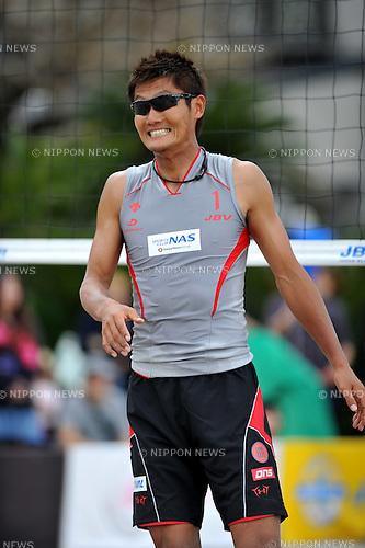 Kentaro Asahi (JPN),.MAY 4, 2012 - Beach Volleyball : JBV Tour 2012 Sports Club NAS Open at Odaiba Beach, Tokyo, Japan. (Photo by Jun Tsukida/AFLO SPORT) [0003].