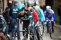 Bernie Eisel (AUT/SKY) passing through the French village of Cassel<br /> <br /> 77th Gent-Wevelgem 2015