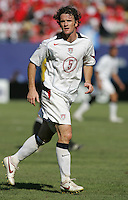 July 24, 2005: East Rutherford, NJ, USA:  USMNT midfielder John O'Brien (5) looks for the ball during the CONCACAF Gold Cup Finals at Giants Stadium.  The USMNT won 3-1 on penalty kicks.