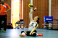 ASSEN - Volleybal, Internationaal zitvolleybal toernooi, Nederland - Rusland, 01-07-2017,  service van Karin van der Haar