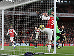 Arsenal's Sead Kolasinac scoring his sides opening goal during the Premier League match at the Emirates Stadium, London. Picture date: 5th December 2019. Picture credit should read: David Klein/Sportimage
