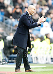 Real Madrid's Zinedine Zidane during La Liga match. February 13,2016. (ALTERPHOTOS/Acero)