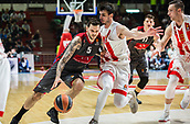 9th February 2018, Aleksandar Nikolic Hall, Belgrade, Serbia; Euroleague Basketball, Crvenz Zvezda mts Belgrade versus AX Armani Exchange Olimpia Milan; Forward Vladimir Micov of AX Armani Exchange Olimpia Milan drives to the basket