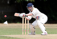 Laura Owens of Ardleigh Green in batting aciton - Hornchurch CC 3rd XI vs Ardleigh Green CC 3rd XI, Essex Club Cricket at Fielders Sports Ground, Hornchurch - 03/07/10 - MANDATORY CREDIT: Rob Newell/TGSPHOTO - Self billing applies where appropriate - 0845 094 6026 - contact@tgsphoto.co.uk - NO UNPAID USE.