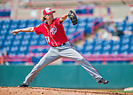 29 February 2016: Washington Nationals pitcher Bronson Arroyo on the mound during an inter-squad pre-season Spring Training game at Space Coast Stadium in Viera, Florida. Mandatory Credit: Ed Wolfstein Photo *** RAW (NEF) Image File Available ***