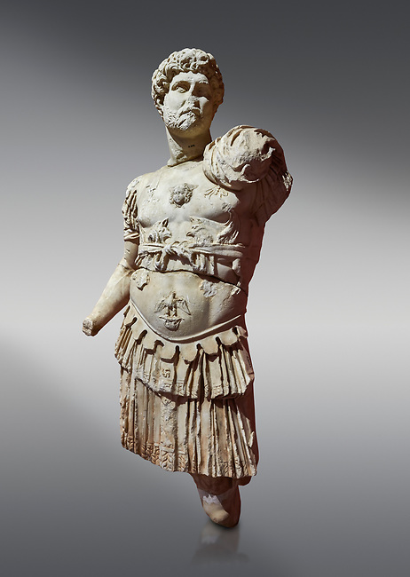 Roman statue of Emperor Hadrian. Marble. Perge. 2nd century AD. Inv no 3053. Antalya Archaeology Museum; Turkey.