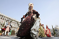 Carnevale in Piazza San Marco a Venezia.<br /> Carnival in St. Mark's Square, Venice.<br /> UPDATE IMAGES PRESS/Riccardo De Luca