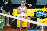 Slovakian Dominika Cibulkova during Mutua Madrid Open Tennis 2016 in Madrid, May 07, 2016. (ALTERPHOTOS/BorjaB.Hojas) /NortePhoto.com