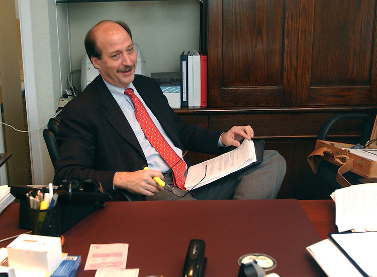 01/12/05.HORN--Assistant Secretary for Children and Families Wade F. Horn, of the U.S. Department of Health and Human Services, in his Washington, D.C. office. He holds a doctorate in child psychology..CONGRESSIONAL QUARTERLY PHOTO BY SCOTT J. FERRELL