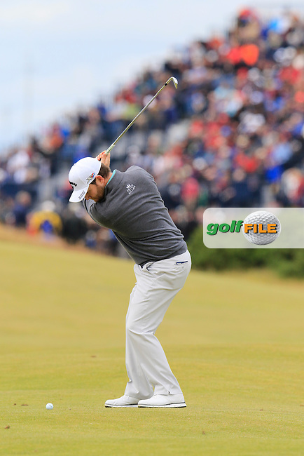 Branden GRACE (RSA) in action during Sunday's Round 3 of the 144th Open Championship, St Andrews Old Course, St Andrews, Fife, Scotland. 19/07/2015.<br /> Picture Eoin Clarke, www.golffile.ie