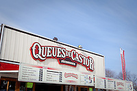 """A """"Queues de Castor"""" (beaver tails) stand at the Quebec Winter Carnival (Carnaval de Quebec) in Quebec city, February 3, 2010. With close to one million participants, it has grown to become the third largest winter celebration in the world."""
