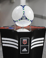 MLS game ball. D.C. United tied The Montreal Impact 1-1, at RFK Stadium, Wednesday April 18 , 2012.