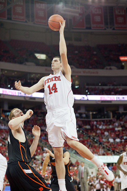 Jordan Vandenberg, NC State University vs Princeton at the RBC Center, Raleigh, NC, Wednesday, November 16, 2011. .