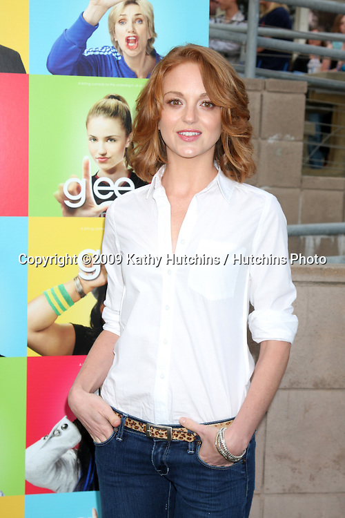 Jayma Mays arriving at the Glee Premiere Event at the Santa Monica High School in Santa Monica , CA  on May 11, 2009.©2009 Kathy Hutchins / Hutchins Photo.....                .
