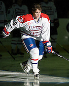 Terrence Wallin (UML - 9) - The University of Massachusetts-Lowell River Hawks defeated the University of Alabama-Huntsville Chargers 3-0 on Friday, November 25, 2011, at Tsongas Center in Lowell, Massachusetts.