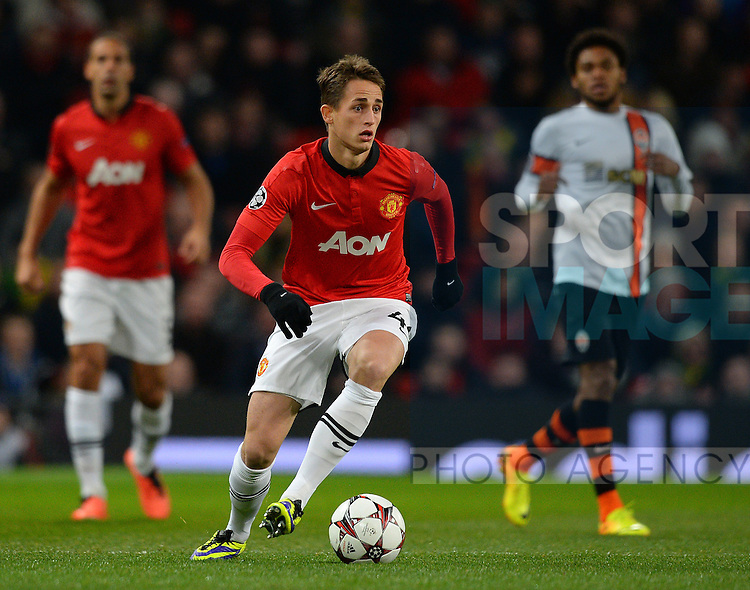 Adnan Januzaj of Manchester United in action - UEFA Champions League Group A - Manchester Utd  vs Shakhtar Donetsk - Old Trafford  Stadium - Manchester - England - 10/12/13 - Picture Simon Bellis/Sportimage