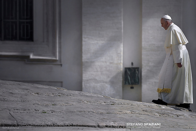 Pope Francis during of a weekly general audience at St Peter's square in Vatican. May 24, 2017