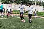 08.01.2019, AMANDLA Save Hub, Johannesburg, RSA, TL Werder Bremen Johannesburg Tag 06 - Besuch des AMANDLA Save Hub<br /> <br /> im Bild / picture shows <br /> <br /> 2 Maedchen des Fussball Camp mit2 Maedchen des Camps <br /> **** Attention *** **** Attention *** <br /> <br /> Only be used for the purpose of documenting the Safe-Hub visit on 08 January 2019<br /> <br /> Foto © nordphoto / Kokenge