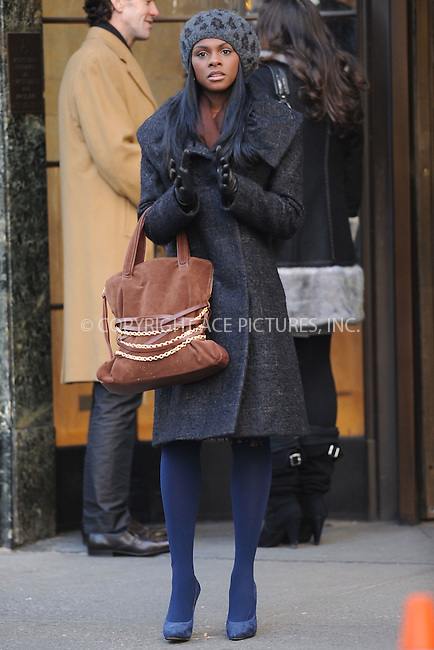 WWW.ACEPIXS.COM . . . . . .January 4, 2011, New York City....Tika Sumpter on the set of Gossip Girl on January 4, 2011 in New York City....Please byline: KRISTIN CALLAHAN - ACEPIXS.COM.. . . . . . ..Ace Pictures, Inc: ..tel: (212) 243 8787 or (646) 769 0430..e-mail: info@acepixs.com..web: http://www.acepixs.com .