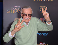 LOS ANGELES, CA. October 20, 2016: Stan Lee at the world premiere of Marvel Studios' &quot;Doctor Strange&quot; at the El Capitan Theatre, Hollywood.<br /> Picture: Paul Smith/Featureflash/SilverHub 0208 004 5359/ 07711 972644 Editors@silverhubmedia.com