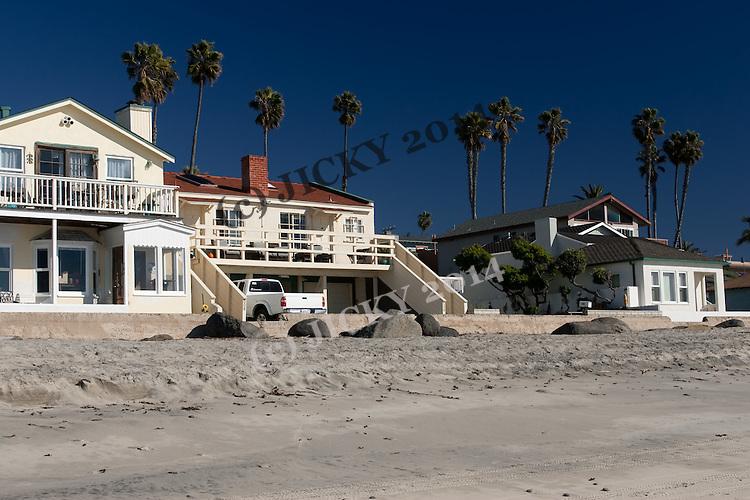 "Houses along ""The Strand""."