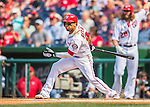 15 June 2016: Washington Nationals outfielder Ben Revere in action against the Chicago Cubs at Nationals Park in Washington, DC. The Nationals defeated the Cubs 5-4 in 12 innings to take the rubber match of their 3-game series. Mandatory Credit: Ed Wolfstein Photo *** RAW (NEF) Image File Available ***