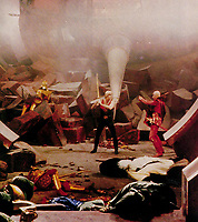 Flash Gordon (1980) <br /> Sam Jones &amp; Max von Sydow<br /> *Filmstill - Editorial Use Only*<br /> CAP/KFS<br /> Image supplied by Capital Pictures