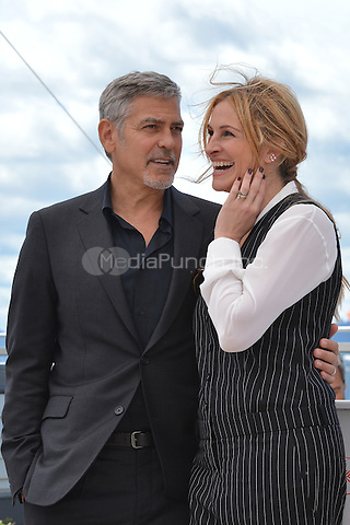 George Clooney and Julia Roberts at the Photocall &laquo;Money Monster` - 69th Cannes Film Festival on May 12, 2016 in Cannes, France.<br /> CAP/LAF<br /> &copy;Lafitte/Capital Pictures<br /> George Clooney and Julia Roberts at the Photocall &acute;Money Monster` - 69th Cannes Film Festival on May 12, 2016 in Cannes, France.<br /> CAP/LAF<br /> &copy;Lafitte/Capital Pictures /MediaPunch ***NORTH AMERICA AND SOUTH AMERICA ONLY***
