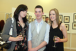 Grace McEwen, Jamie McArdle and Dearbhla Gough at the DIFE End of Year Exhibition in the D Hotel...Photo NEWSFILE/Jenny Matthews.(Photo credit should read Jenny Matthews/NEWSFILE)....This Picture has been sent you under the condtions enclosed by:.Newsfile Ltd..The Studio,.Millmount Abbey,.Drogheda,.Co Meath..Ireland..Tel: +353(0)41-9871240.Fax: +353(0)41-9871260.GSM: +353(0)86-2500958.email: pictures@newsfile.ie.www.newsfile.ie.FTP: 193.120.102.198.