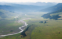Yellowstone's Lamar Valley, photographed during an aerial shoot of the park.