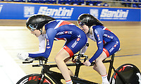 Picture by Simon Wilkinson/SWpix.com - 02/03/2017 - Cycling 2017 UCI Para-Cycling Track World Championships, Los Angeles USA - FACHIE Lora <br /> MACLEOD Hazel<br /> branding