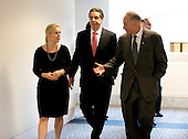 Governor Andrew Cuomo (Democrat of New York), center, walks with United States Senators Kirsten Gillibrand (Democrat of New York), left, and Chuck Schumer (Democrat of New York) prior to a meeting in U.S. Senator Daniel Inouye's (Democrat of Hawaii) as the governor visits Capitol Hill for a series of meetings with Congressional Leadership on Monday, December 3, 2012..Credit: Ron Sachs / CNP.(RESTRICTION: NO New York or New Jersey Newspapers or newspapers within a 75 mile radius of New York City)