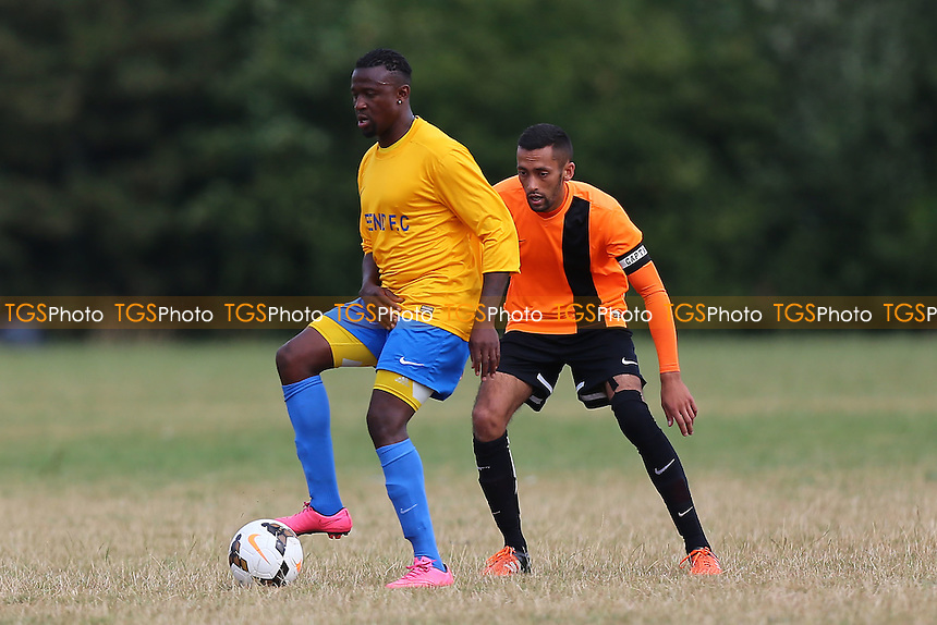 Mile End (yellow/blue) vs El Valiente, Hackney & Leyton Sunday League Football at Hackney Marshes on 4th September 2016