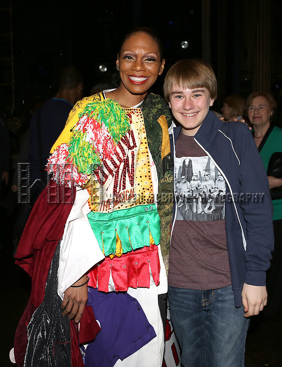 Stephanie Pope & Andrew Cekala  attending the Broadway Opening Night Gypsy Robe Ceremony honoring Stephanie Pope for 'Pippin' at the Music Box Theatre in New York City on 4/25/2013